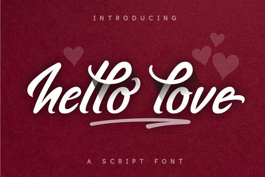 hello love - script font (+bonus)
