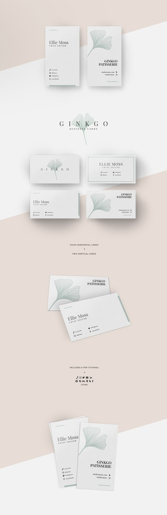 Ginkgo Business Card Templates