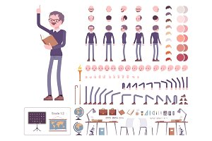 Male teacher creation set