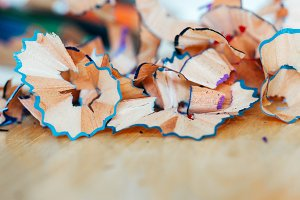 Pencil Shavings Closeup
