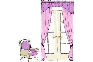 The door and a chair