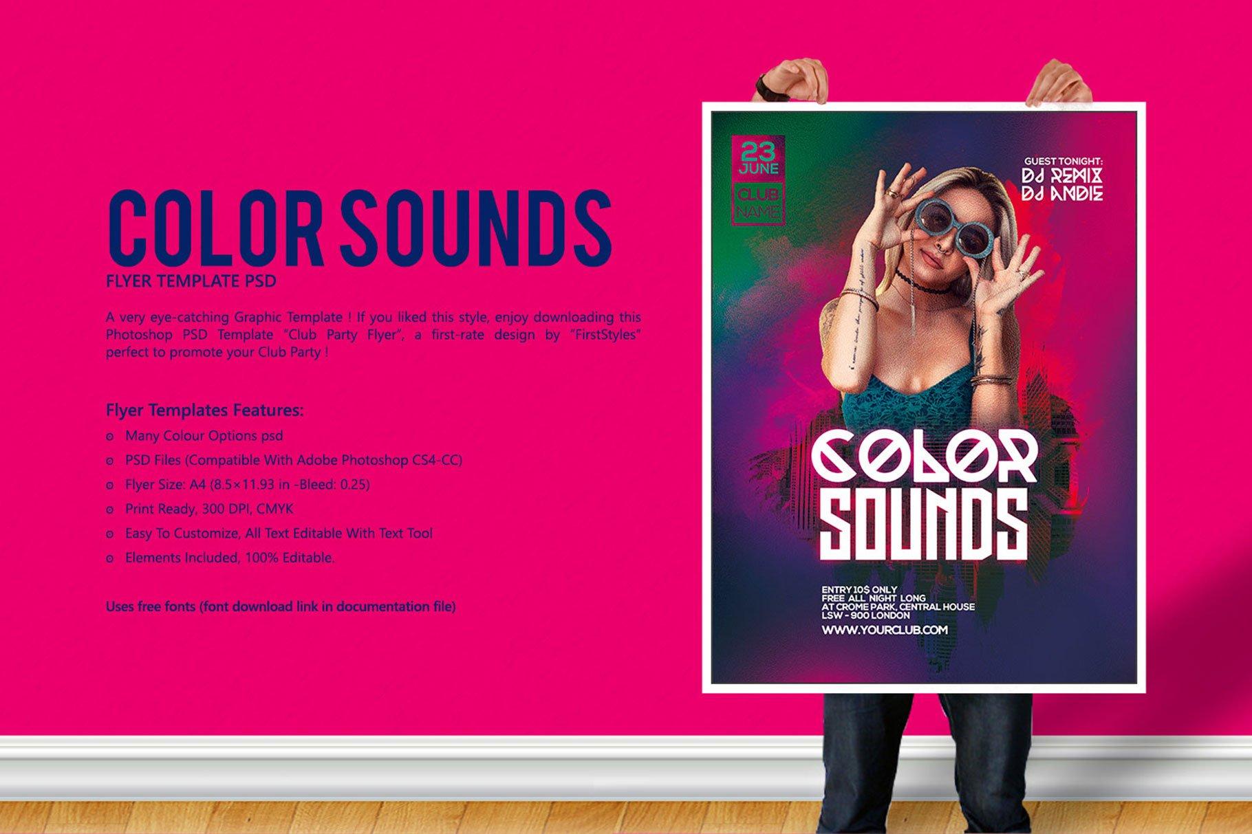 Color Sounds Party Flyer ~ Flyer Templates ~ Creative Market
