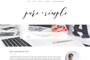 Pure & Simple | Blogger Template
