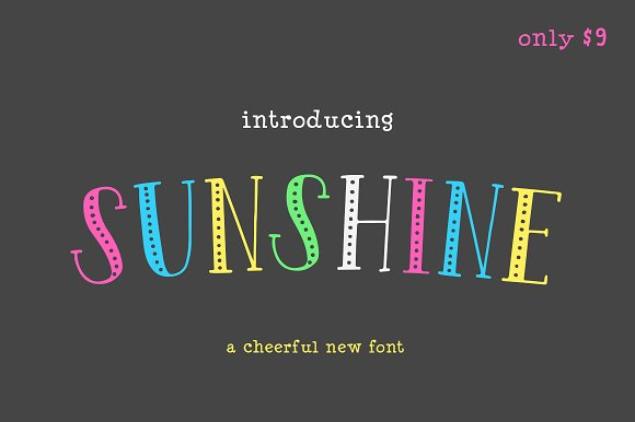 Sunshine Font (ONLY $9)