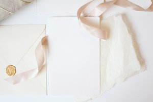 Blush Silk Ribbon Card Mock Up