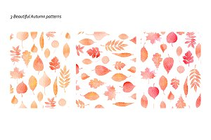 3 Pattern with autumn leaves