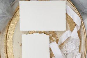 Vintage Wedding Stationery Mock Up