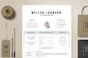 """Resume Template 1 page   """"Amsterdam"""""""