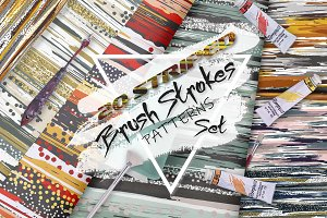 20 Striped Brush Strokes Patterns