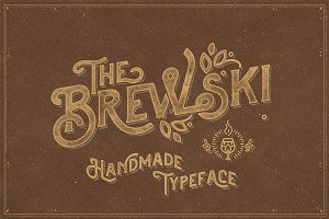 The Brewski - Textured Typeface