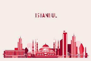 Istanbul city skyline, Turkey