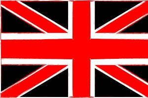 British flag artistic background