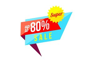 Up to 80 percent sale banner