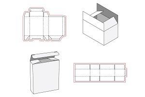 Simple box packaging die cut