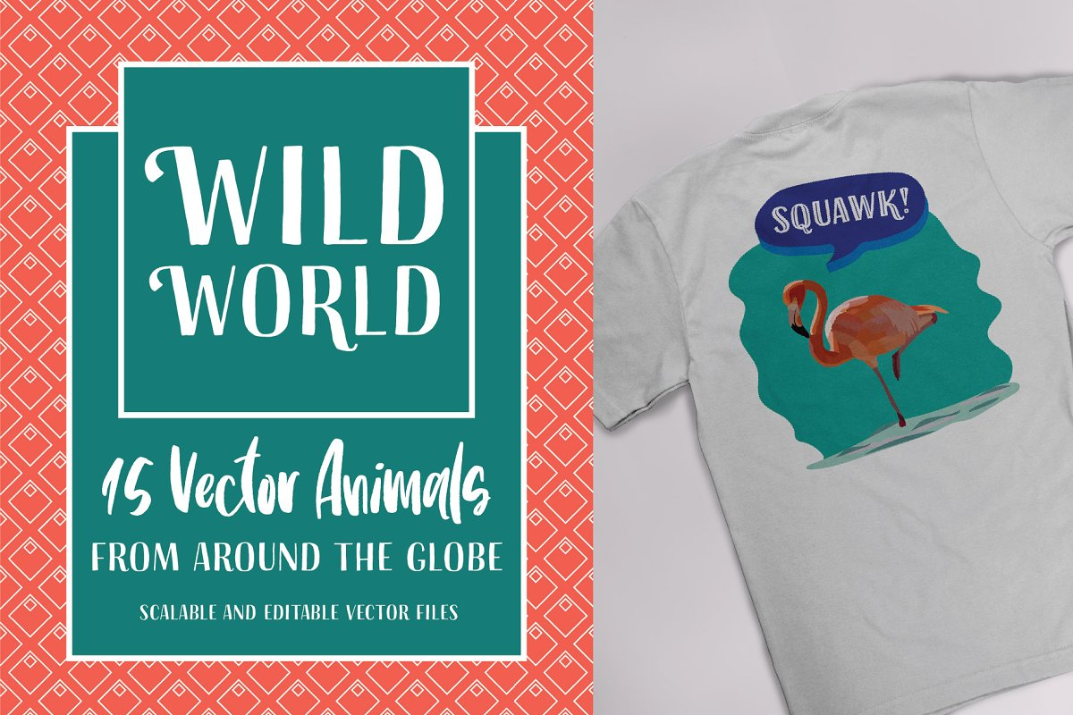 Wild World Animal Vectors in Graphics - product preview 8