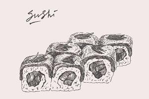 Sushi set 2 illustrations