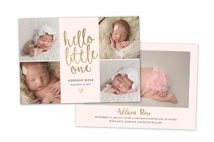 Birth Announcement Template CB129