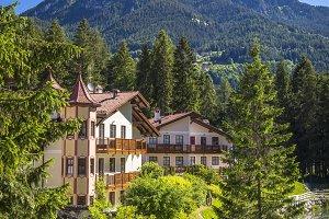 Alpine landscape in the Dolomites