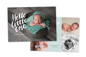 Birth Announcement Template CB130