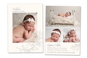Birth Announcement Template CB125