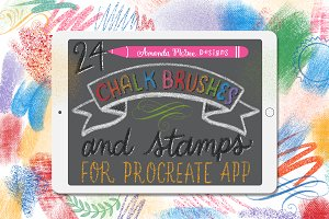 Procreate Chalk Brushes and Stamps