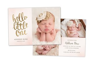 Birth Announcement Template CB128