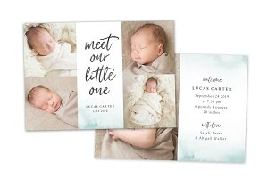 Birth Announcement Template CB131