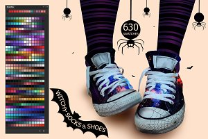 Witchy Socks & Shoes Ps Swatches