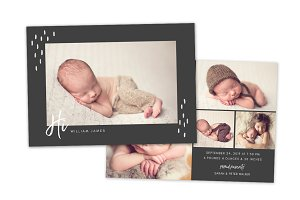 Birth Announcement Template CB140