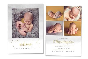 Birth Announcement Template CB162