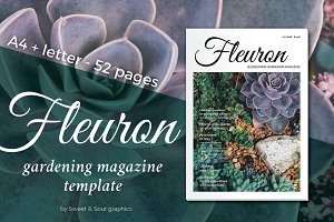 Fleuron gardening magazine template