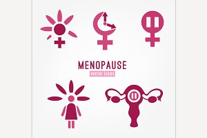 Menopause vector icon