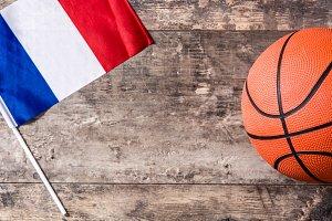 Basketball and French flag
