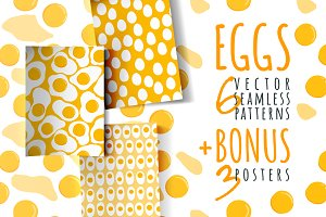 Eggs, 6 patterns + 3 posters