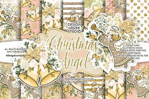 Christmas Angel digital papers