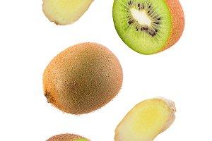 Levity kiwi fruits and ginger