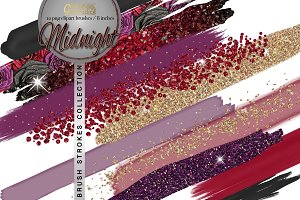 Midnight Brushes Clipart Collection