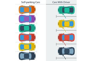 Scheme parking normal cars and self