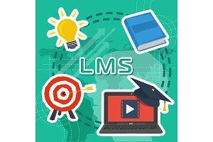 Vector Line Art Concept of LMS