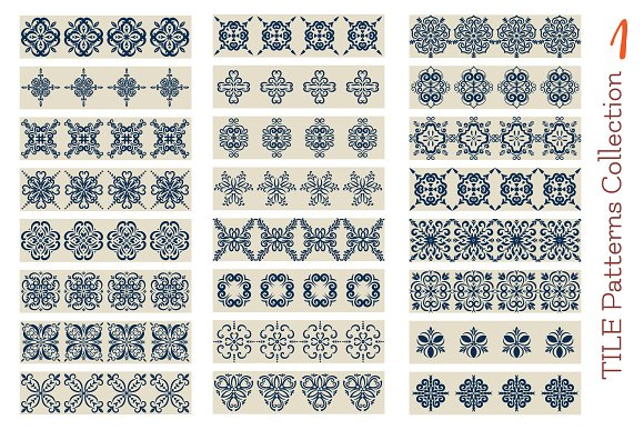 Collection1 of Azulejo Tile borders