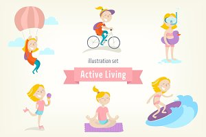 Active lifestyle. Girl's edition