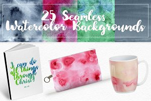 Seamless Watercolor Backgrounds
