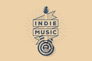 Indie Rock Music Badge