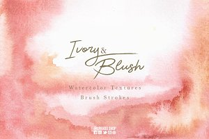 Ivory Blush watercolor design kit