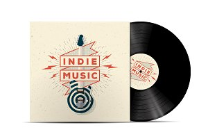 Indie Music Vinyl Disc Cover