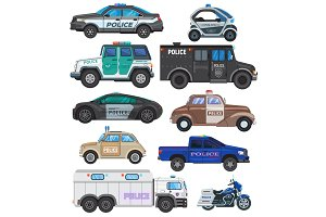 Police car vector policy vehicle and