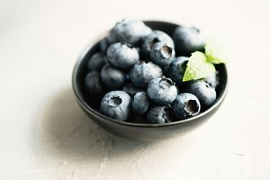 Blueberries, summer season, berries