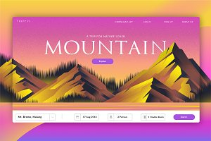 Mountain Travel-Banner & LandingPage