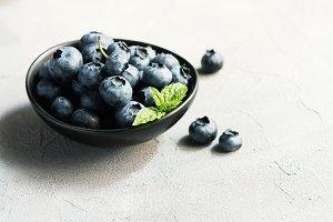 Blueberries, summer season, berries