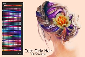Cute Girly Hair Ps Swatches